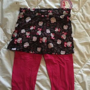 Hello Kitty leggings with skirt overlay